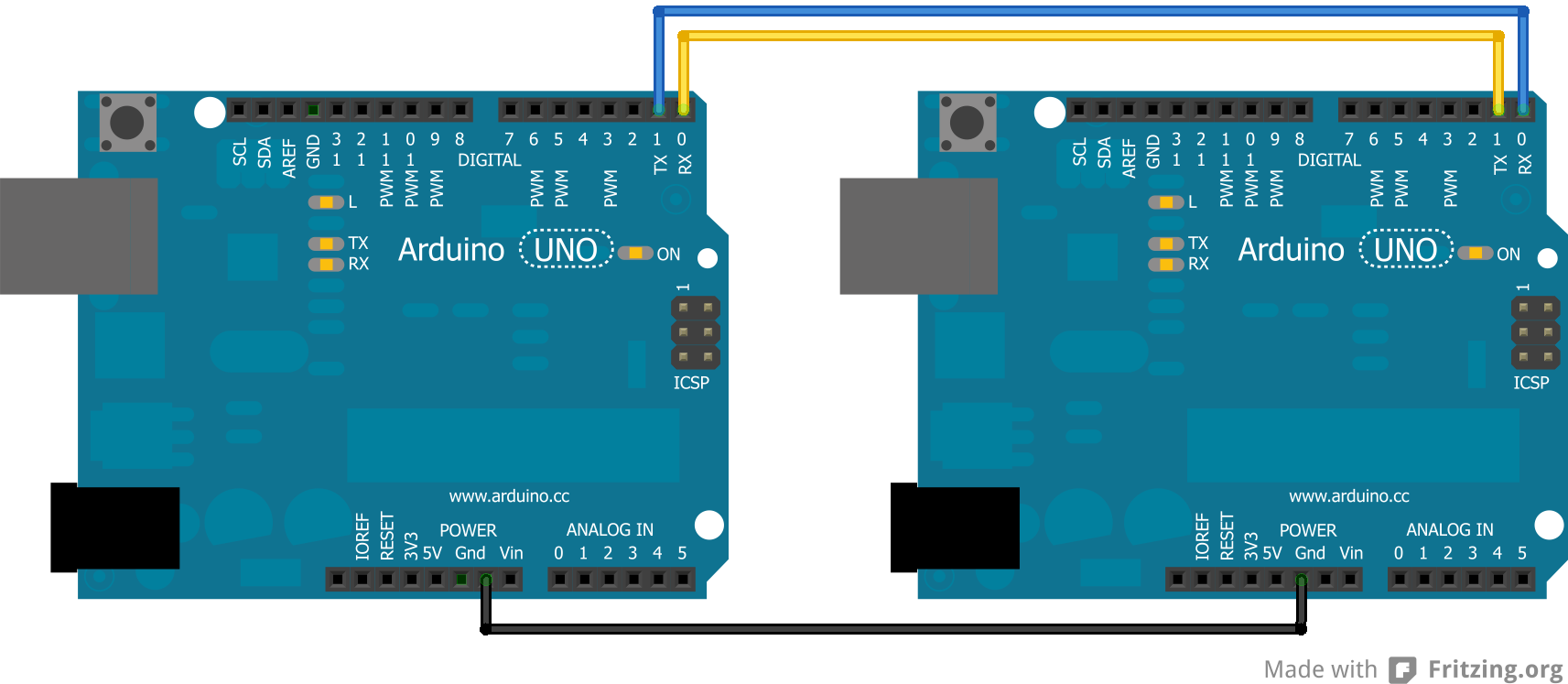 Arduino to Arduino Serial Communication | Robotic Controls