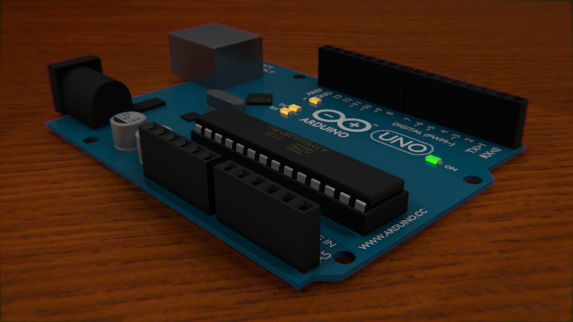 Blender arduino model robotic controls