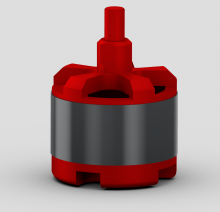 A render of the motor in Creo
