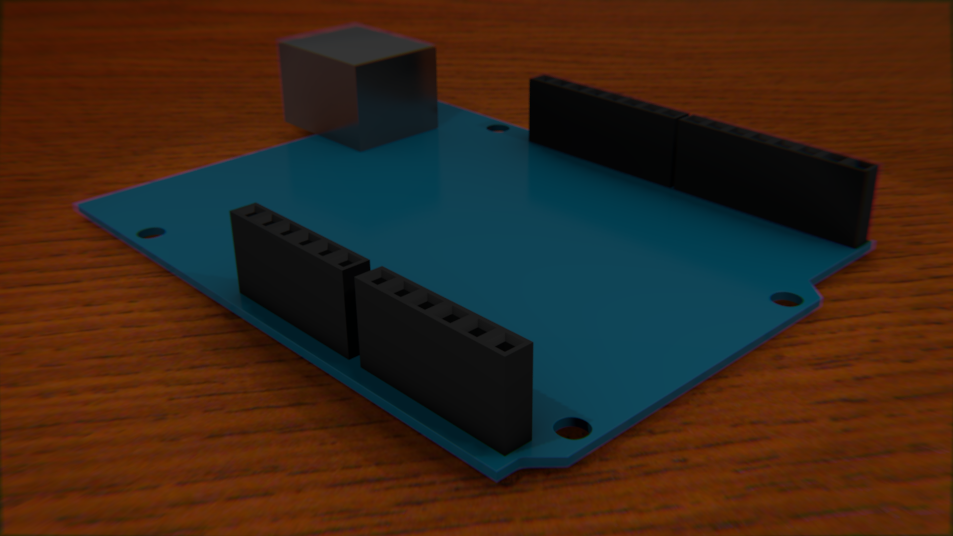 A render of an Arduino Uno